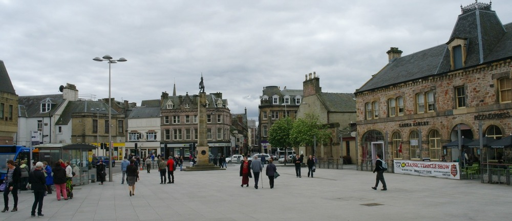 Downtown Inverness, between the Eastgate shopping centre and the railway station.