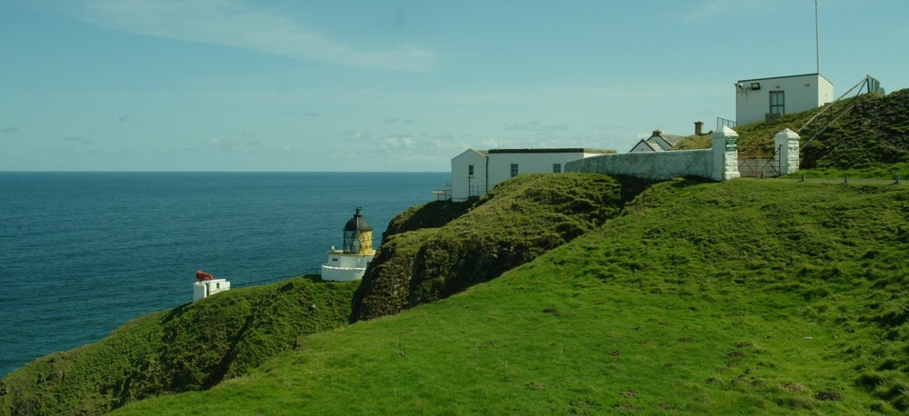 St Abb's Head lighthouse, with redundant foghorn.