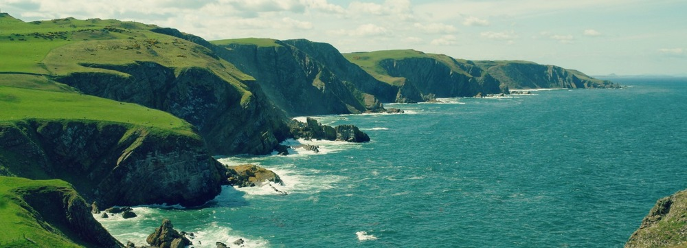 The less visited cliffs beyond St Abb's Head - the smugglers' haunts of old.