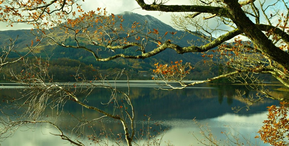 Loch Achray and Ben Venue, The Trossachs, autumn.