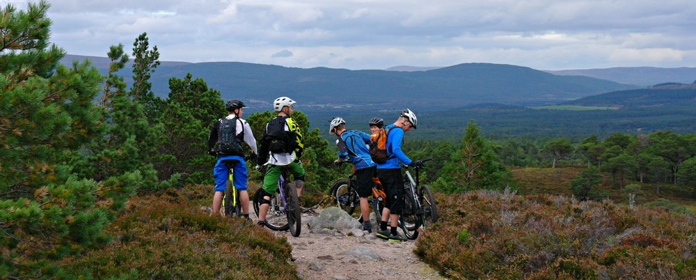 Cycling in the Cairngorms National Park