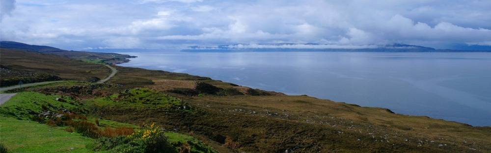 Applecross road, from near Shieldaig, looking towards Skye
