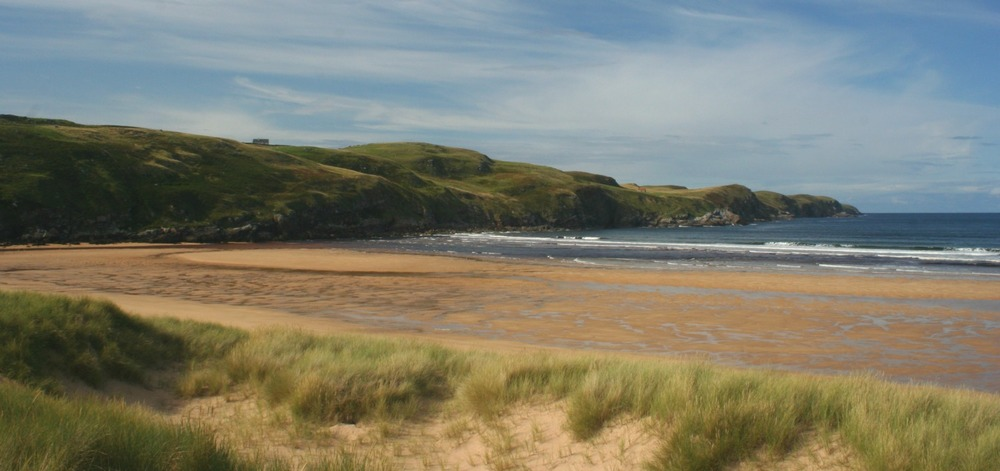 The sands at Strathy Bay on the north coast