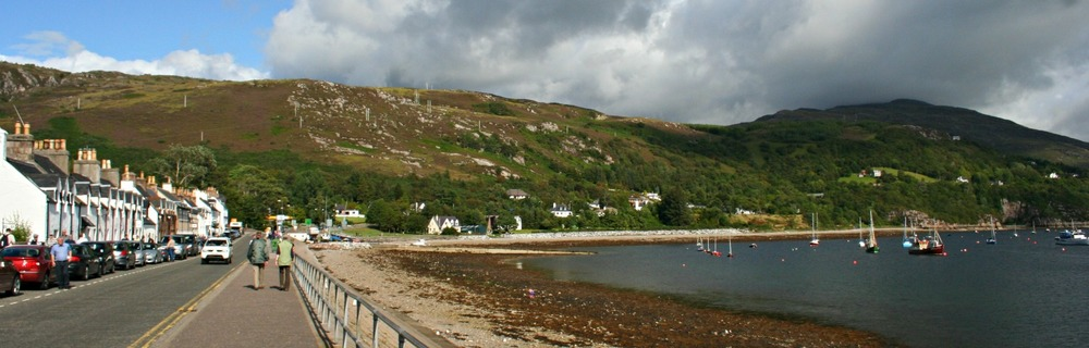 Ullapool, a main centre in the North-West Highlands