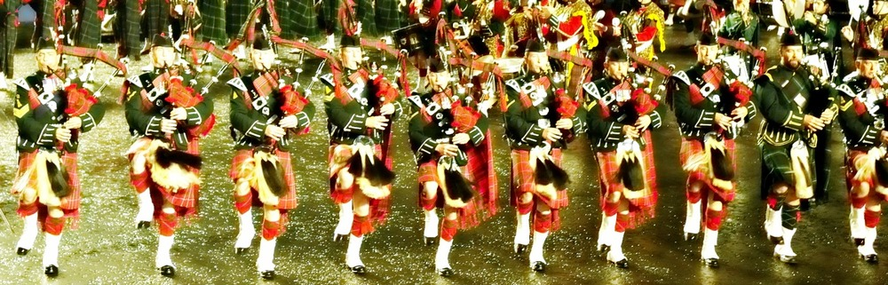 The Edinburgh Military Tattoo - it's a total tartan-fest.