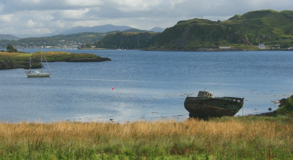 Looking from Kerrera north-east to Oban