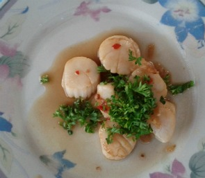 Scallops - just don't overcook 'em.