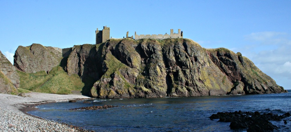 Dunnottar Castle on its dramatic cliff setting near Aberdeen