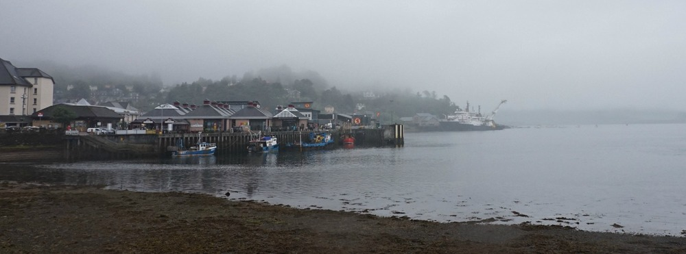 Oban can be dreich. This is also a picture taken in summer. But it will clear up eventually.