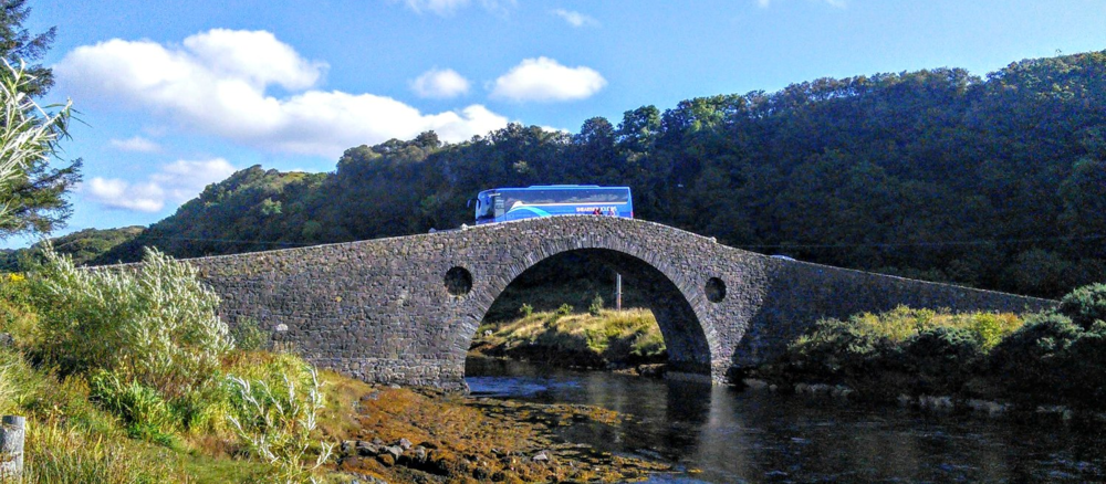 "The Clachan Bridge - known as ""the Bridge over the Atlantic""  - you cross it to reach the isle of Seil and also Easdale - it is just south of Oban"