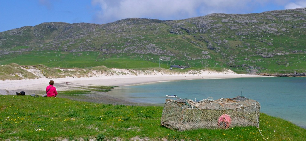 Just another beach on Vatersay, Outer Hebrides. We could have chosen ten best beaches in Scotland from the Outer Hebrides alone!