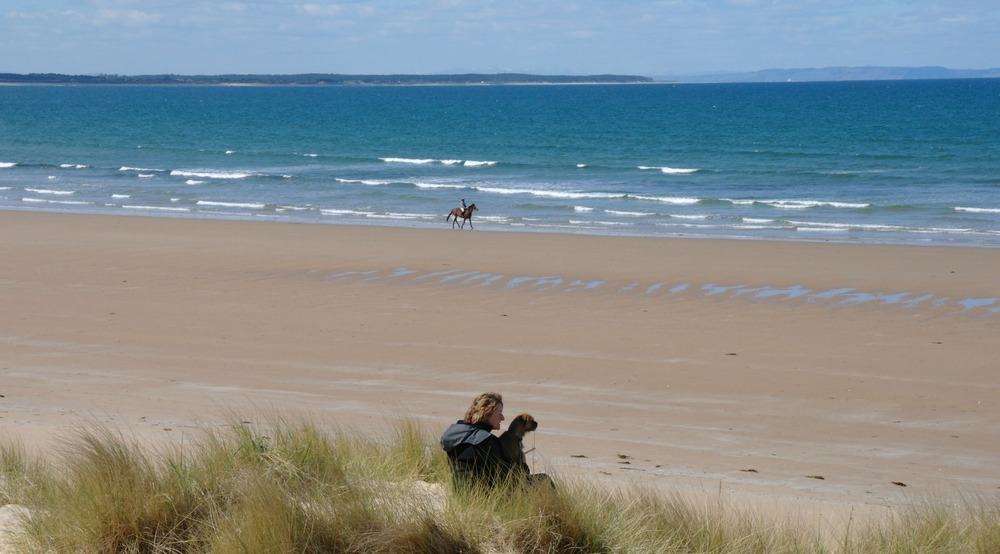 The beach at Roseisle, on the Findhorn side of Burghead, Moray.