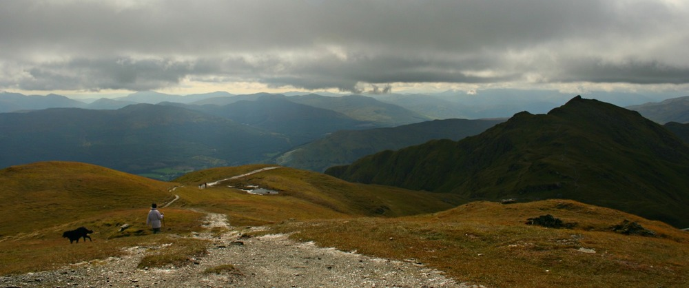 A moody autumn day on Meall nan Tarmachan. The rain stayed away though.
