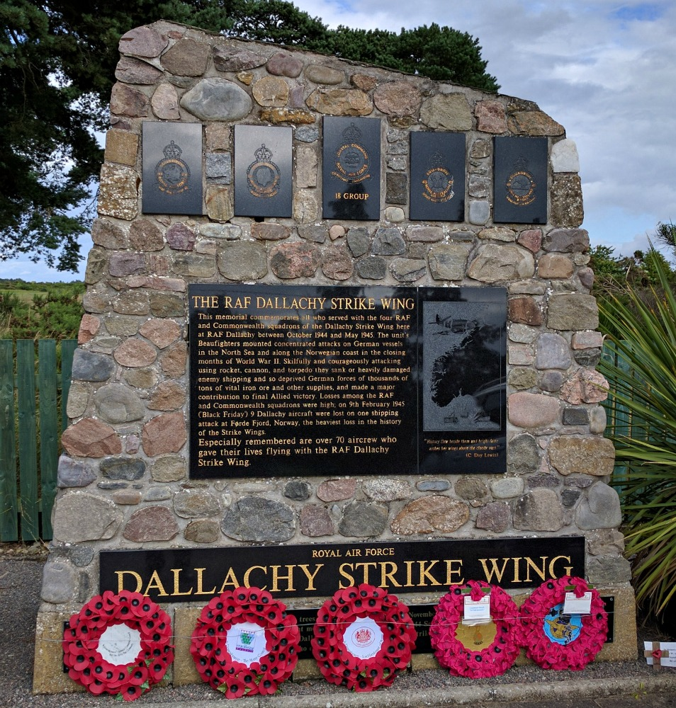 RAF Dallachy Strike Wing Memorial.