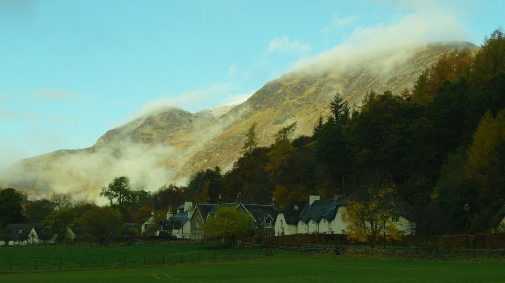 Fortingall village in autumn