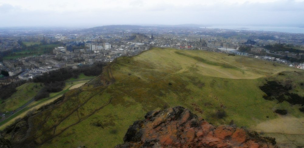 Edinburgh from Arthur's Seat - February