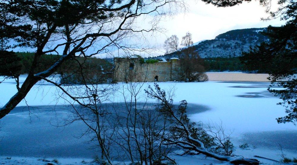 Loch an Eilean Castle - January
