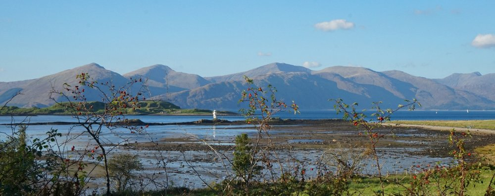 A short diversion from the main road between Oban and Fort William takes you round via Port Appin, from where you can enjoy this view across Loch Linnhe.