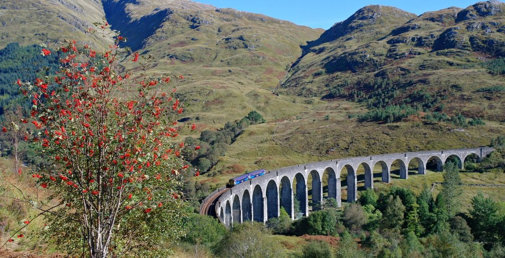 You can see the scale of the viaduct here. It dwarfs the two-car ScotRail train bound for Mallaig.