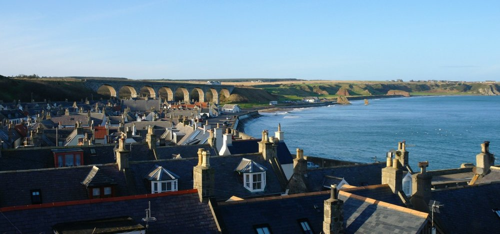 The old Great North of Scotland Railway viaduct that dominates the little Moray Firth town of Cullen is a great viewpoint. It's a Moray Firth must see.