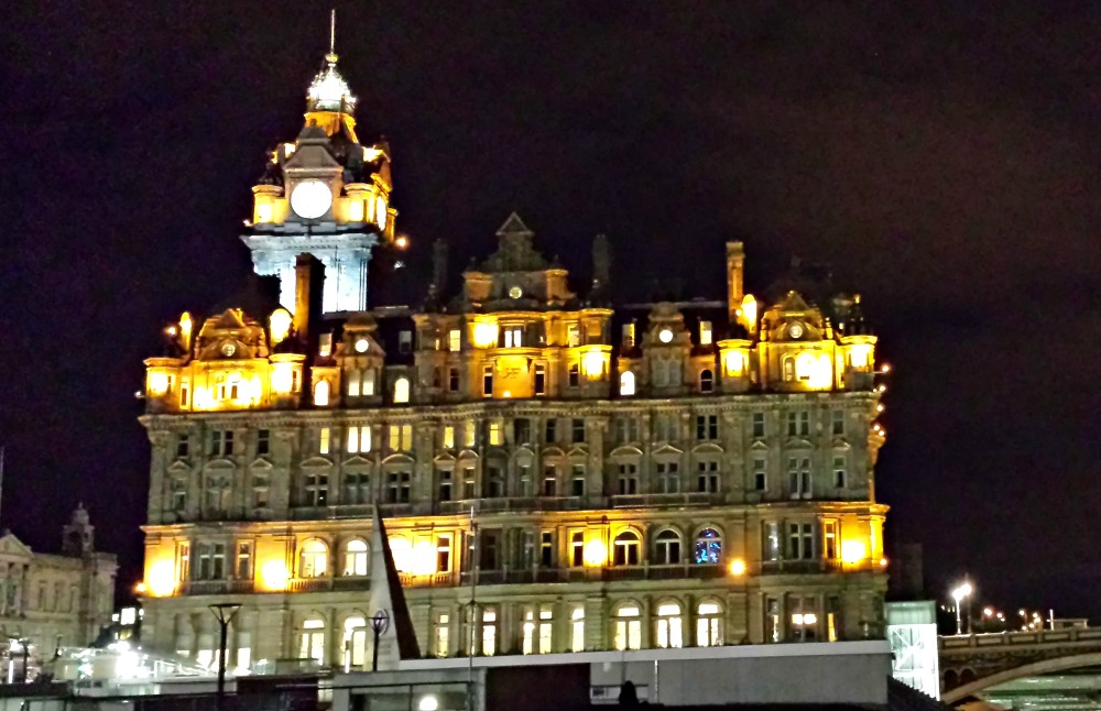 The Balmoral Hotel and its clock tower are prominent in the Edinburgh skyline.