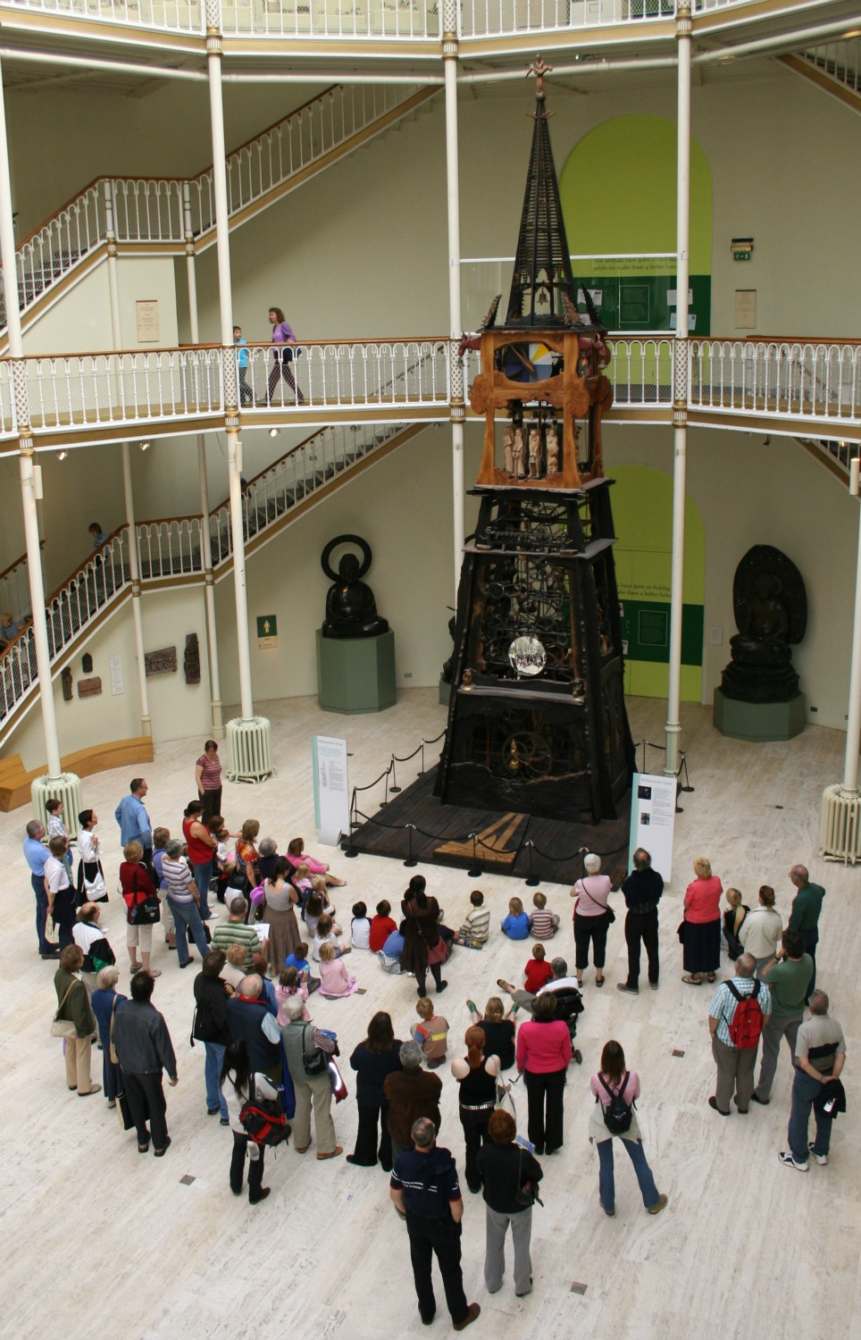 The Millennium Clock in the National Museum of Scotland always draws a crowd when it goes into action.