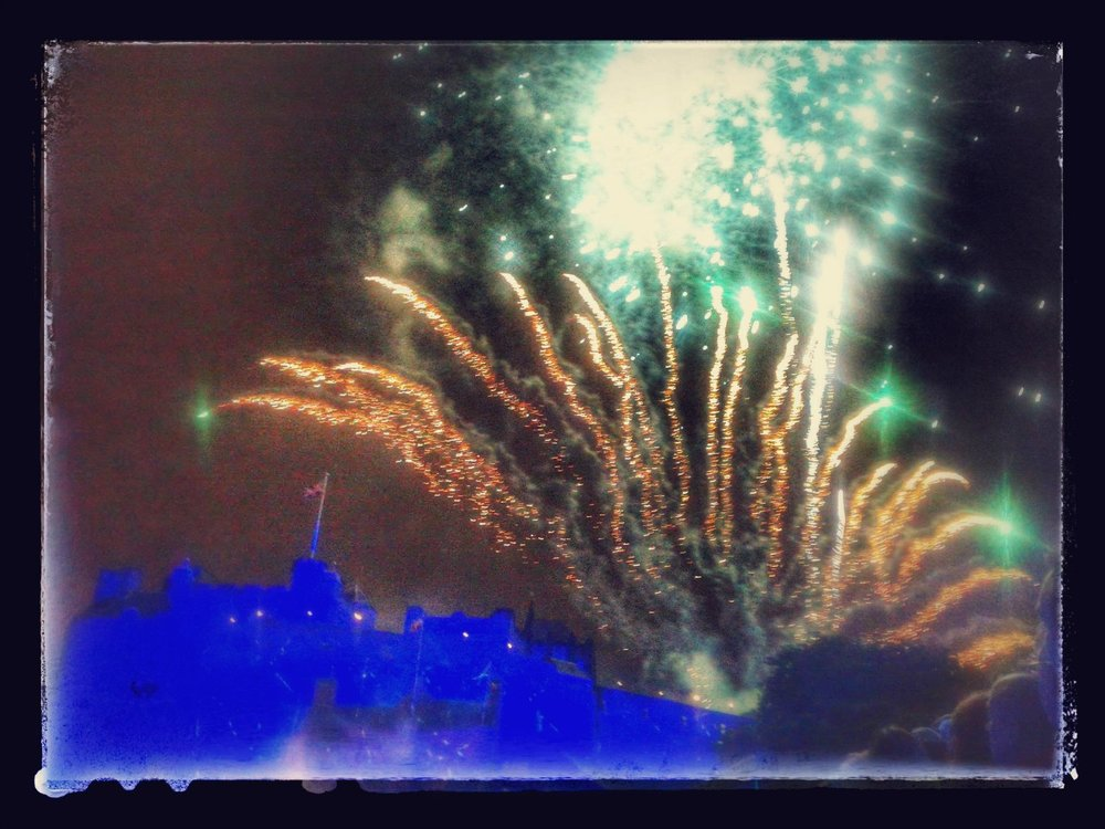 Fireworks over Edinburgh Castle