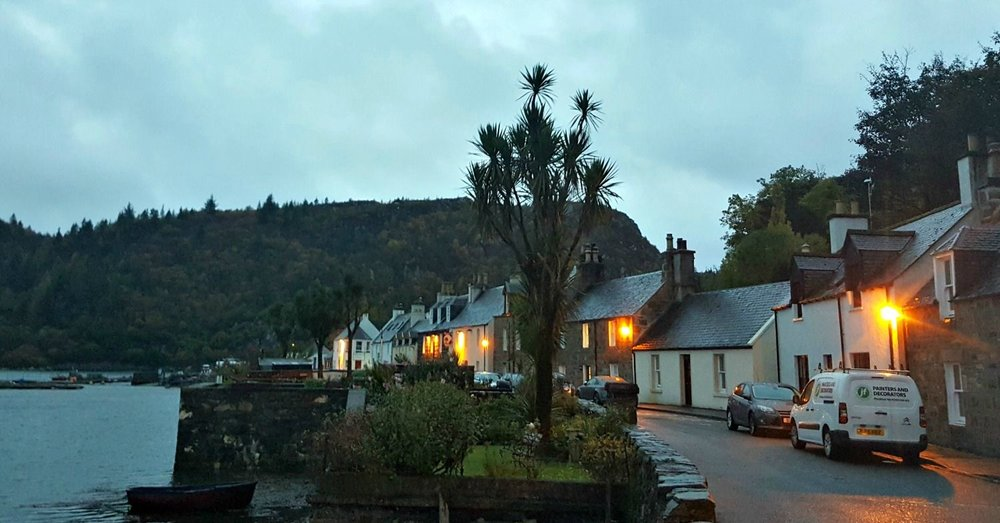 Plockton - just as dusk is falling.