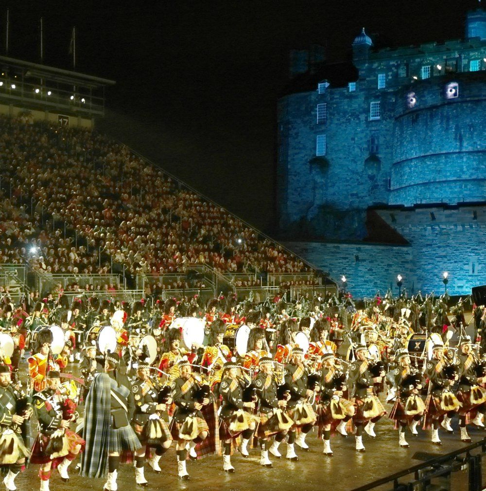 The famous Edinburgh Military Tattoo.