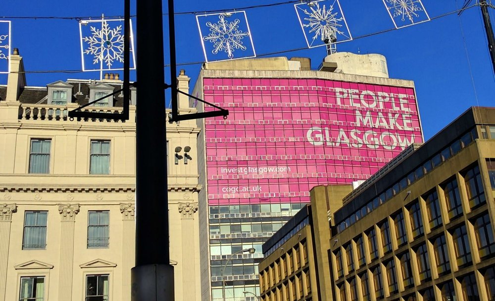 Right, got it. People Make Glasgow. OK.