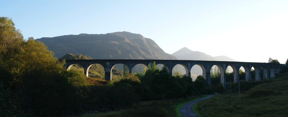 Glenfinnan Viaduct - evening.