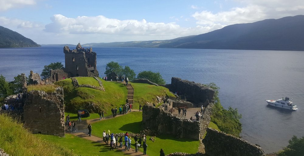The hugely popular Urquhart Castle on Loch Ness