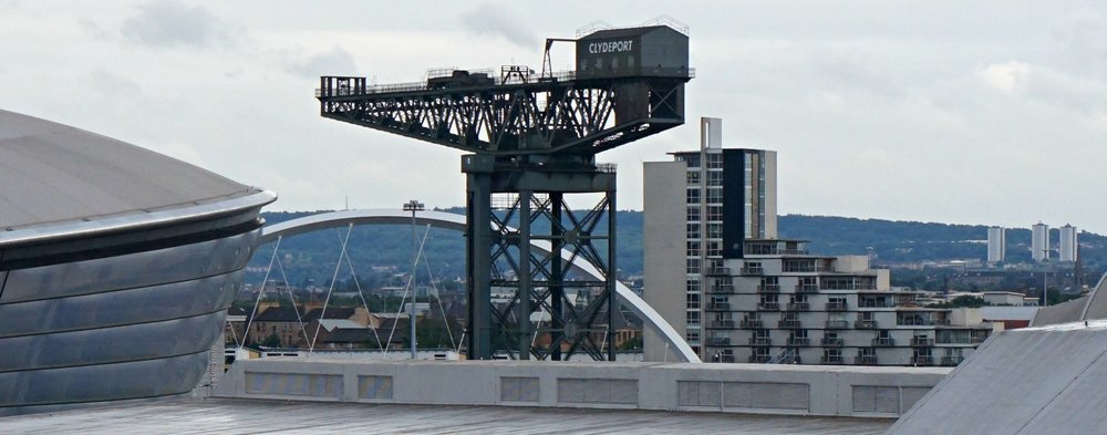 The preserved Finnieston Crane in Glasgow - symbol of this 'post-industrial' city