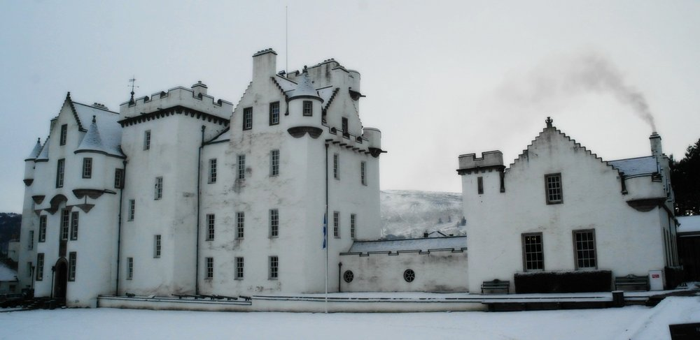 Blair Castle in winter