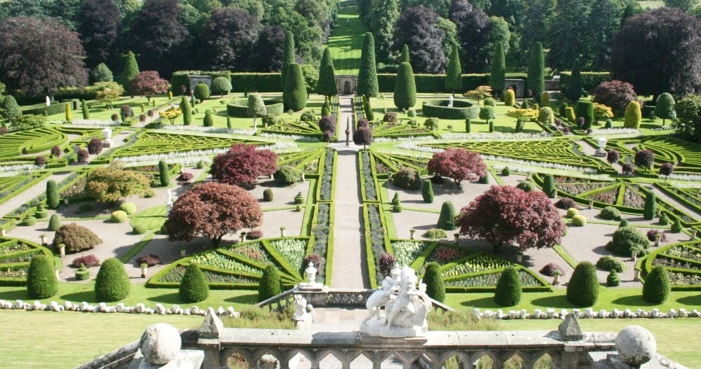 Drummond Castle Gardens, worth a look from Crieff