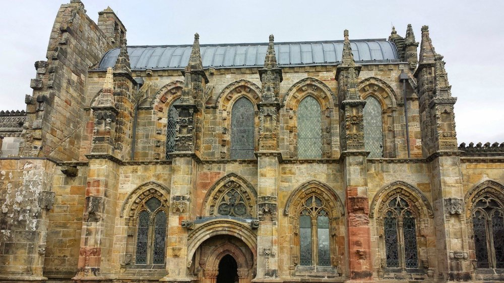 Rosslyn Chapel near Edinburgh