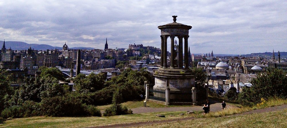 Edinburgh cityscape from Calton Hill