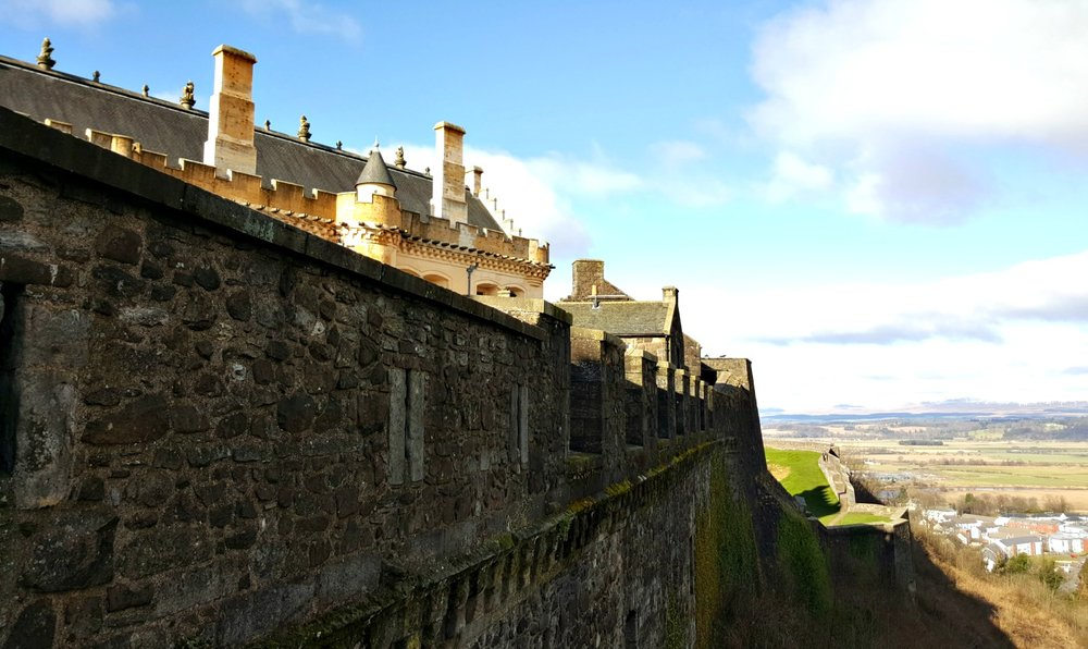 Stirling Castle and the outer defences.