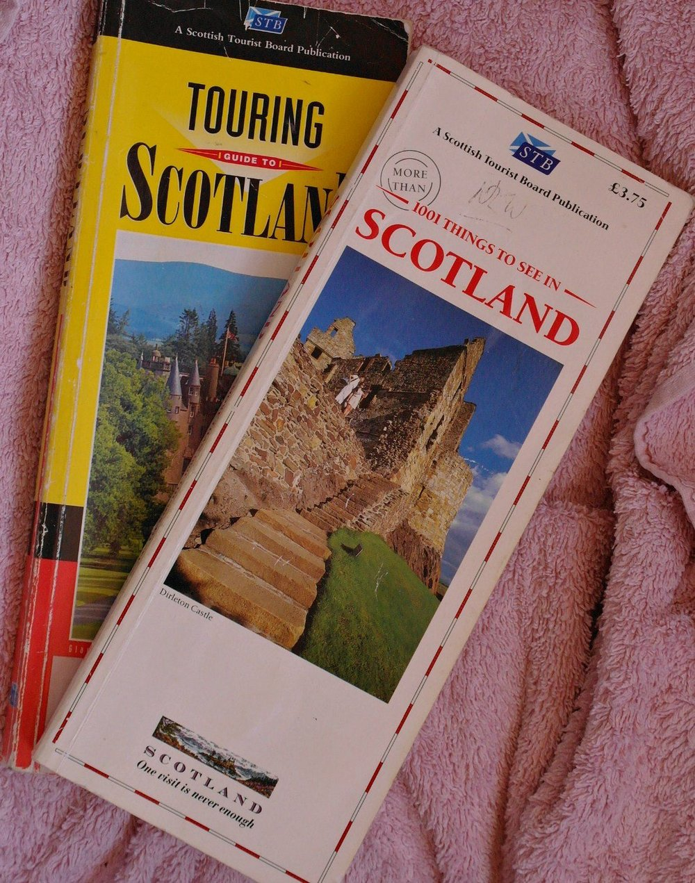 What the knowledgeable staff in the 'TICs' of old used on the odd occasion when their knowledge failed them. They looked up a publication invariably known as '1001' and it really did have more than a thousand places in Scotland to visit. The top copy dates from 1990, a comparative youngster. NB I never wrote this one. Oddly enough, Johanna edited it one year though.