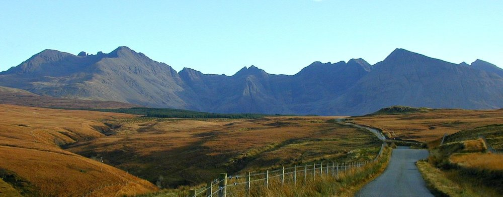 Cuillin Hills from the Glen Brittle road