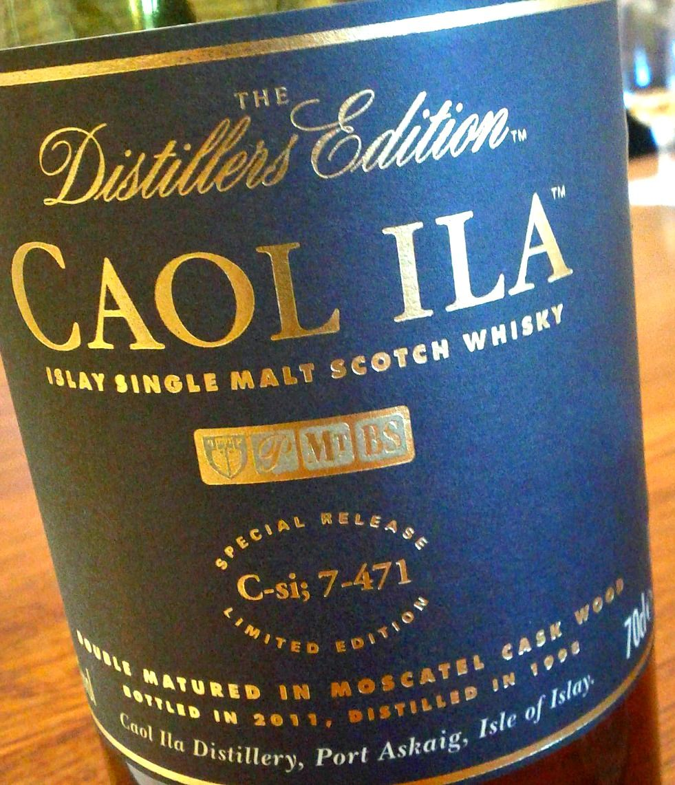 Caol Ila means 'the Sound of Islay' in Gaelic - Sound as in Kyle (from the Gaelic) or straight, and straight as in stretch of sea. What do you mean does that make it a straight whisky? It's the largest distillery on the island of Islay.