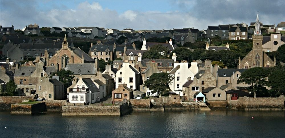 Stromness, ferry port and second-largest town in Orkney