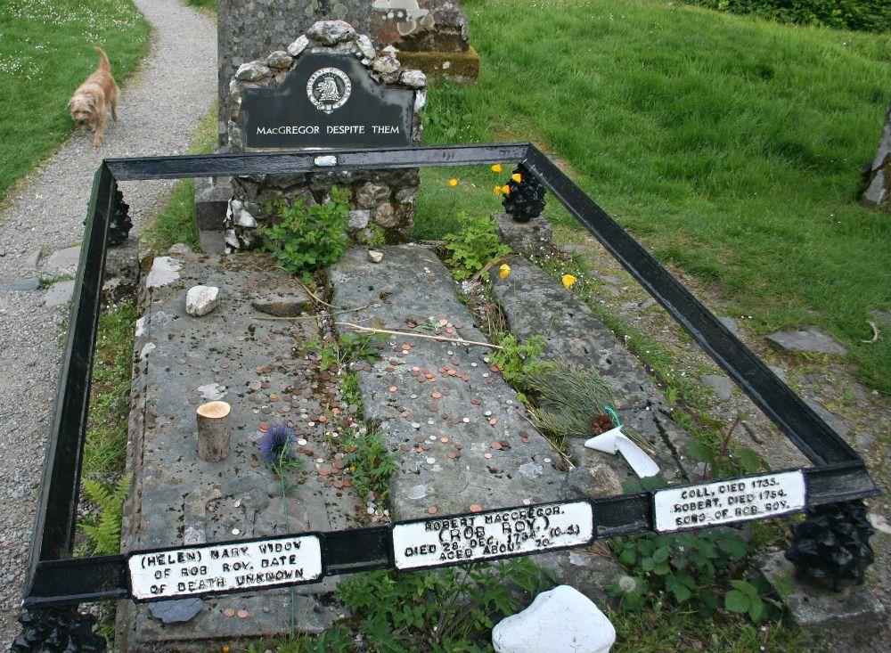 Rob Roy Macgregor's grave, in the Balqhuidder kirkyard.