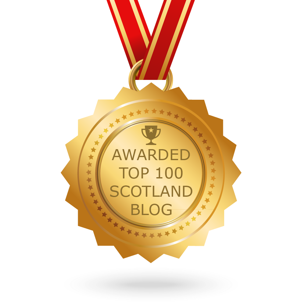 We are #28 out of the Top 100 Scotland blogs and websites on the web.  Feedspot award  - Sept 2017.