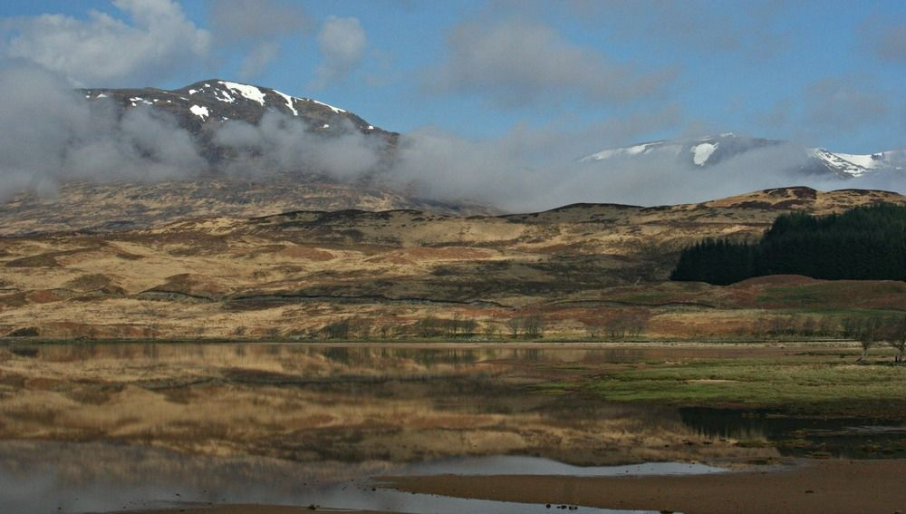 Spring morning at Loch Tulla, edge of Rannoch Moor.