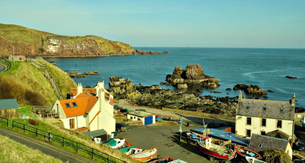 St Abbs on the Berwickshire coast, just north of the Scottish Border