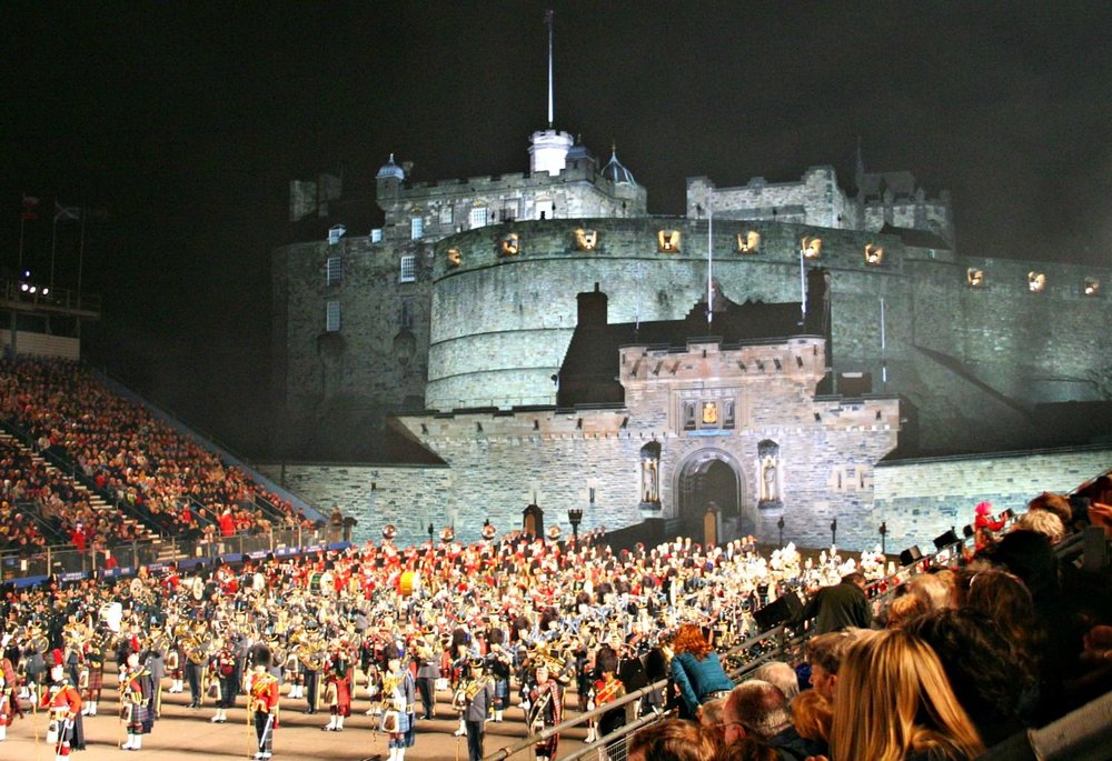 Great atmosphere - that's for sure - at the Edinburgh Military Tattoo.