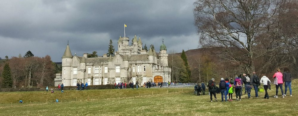Lots of visitors playing 'Spot the Neep' at Balmoral Caste.