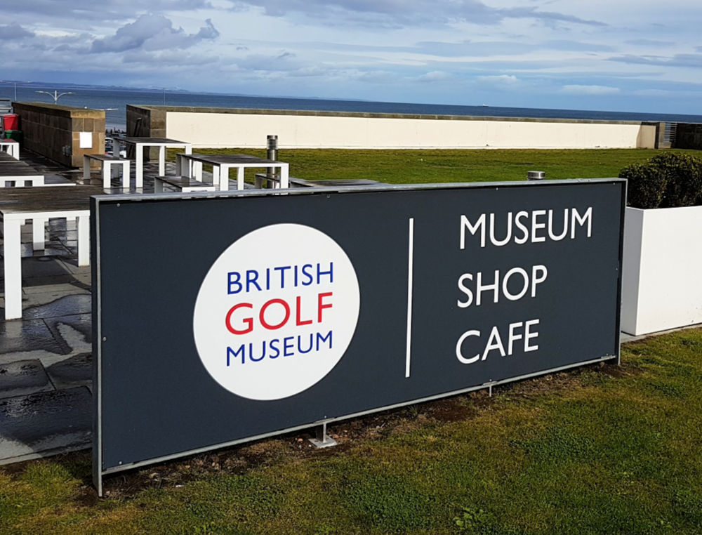 The British Golf Museum Cafe is a great place to enjoy a snack and superb views of the golf course and West Beach.