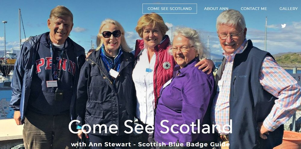 www.comeseescotland.com  - created by us for Ann Stewart.